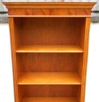 Tall, Yew Wood Standing Open Bookcase Shelves in the Antique Georgian Style -SOLD